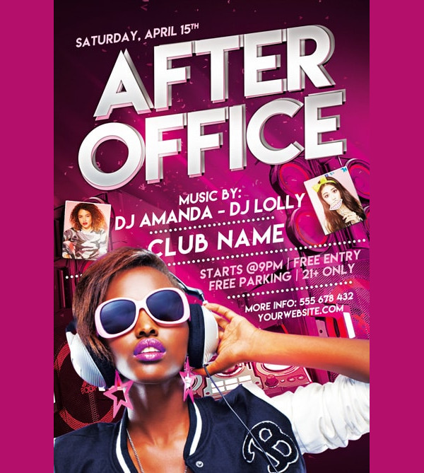 After Office Free Party Flyer Template