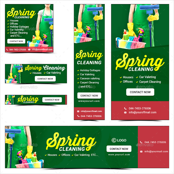 Cleaning Business Banner Templates