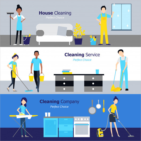 Free Cleaning Horizontal Banners Download
