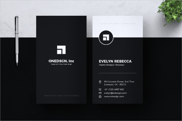 Minimal Business Card Design