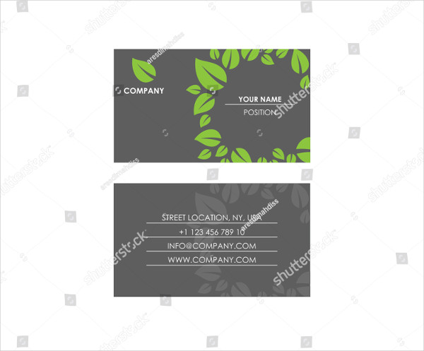 Nature Theme Business Card