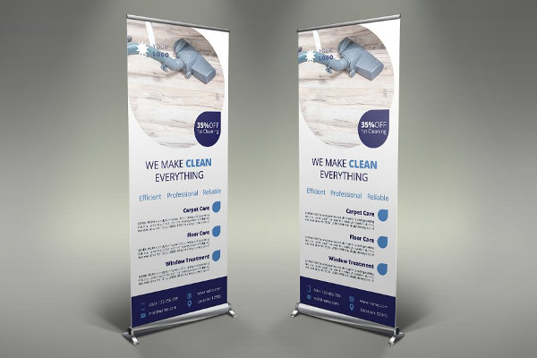 Perfect Cleaning Services Roll Up Banner