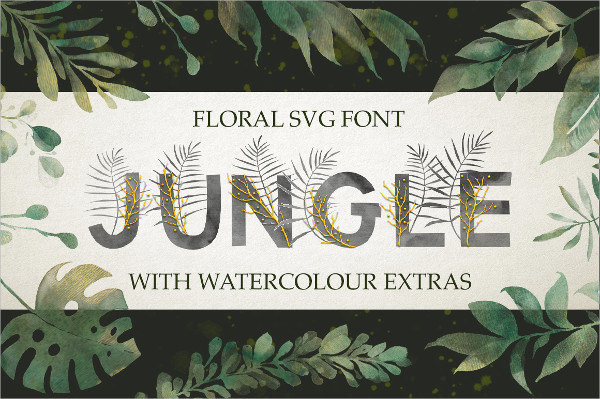 Watercolor Hand Drawn Letters and Symbols