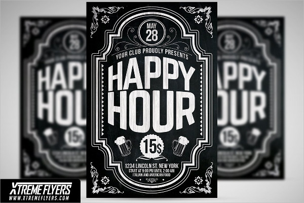 PSD Happy Hour Flyer Templates