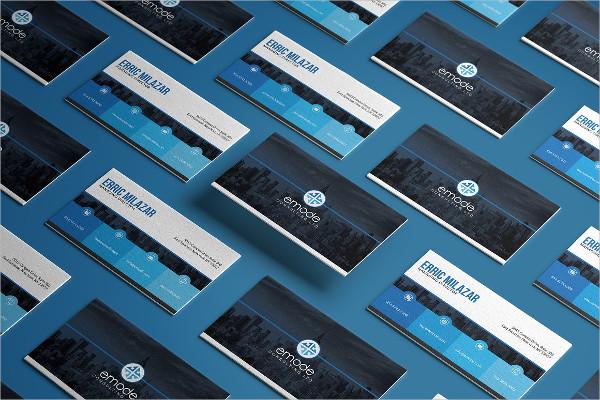 Modern Blue Business Card PSD