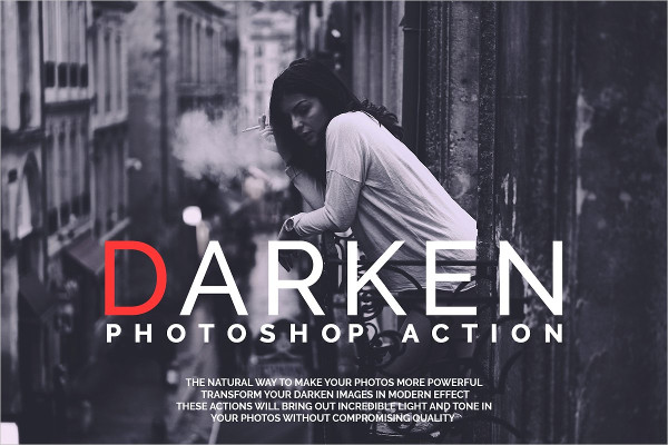 Darken Photoshop Actions