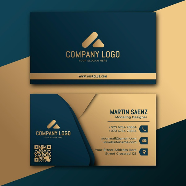 Gold Foil Business Card Free Download