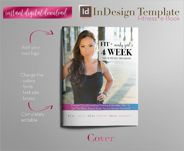 Fitness e-Book InDesign Template