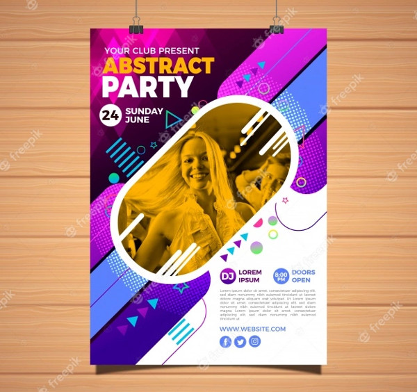 Abstract Party Poster Free Download