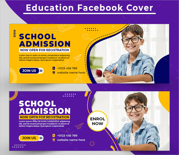 Back to School Banner PSD