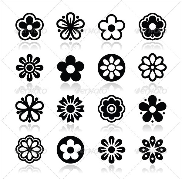 Nature Icons Isolated on White