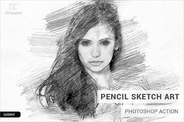 Pencil Sketch Art PS Action