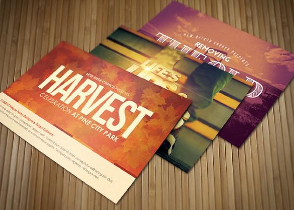 Celebrate Postcard Templates Bundle