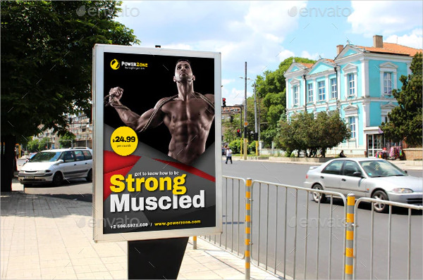 Fitness Poster Template Photoshop