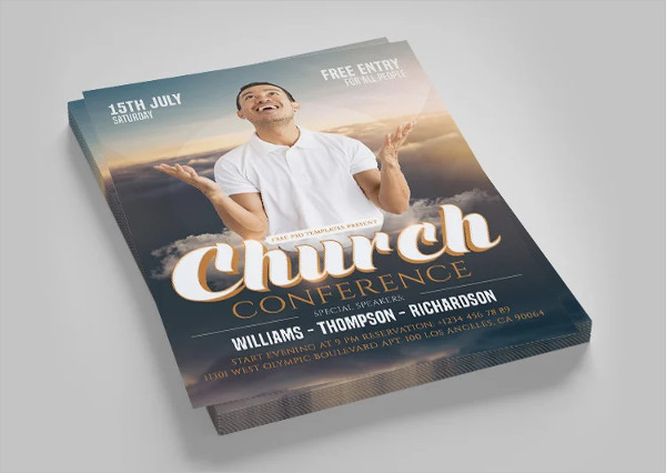 Free Church Conference Flyer in PSD