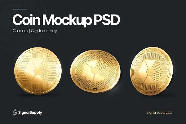 Fully Editable Coin Mockup Template PSD