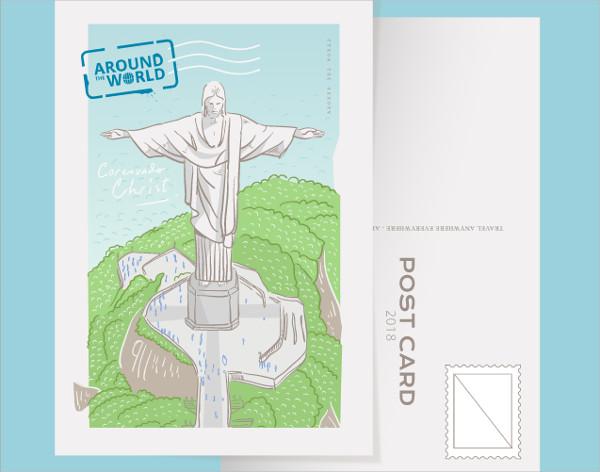 Postcard Vector Illustration Free