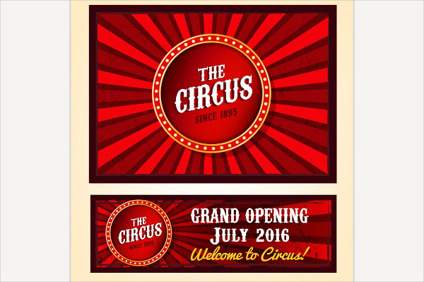 Vector Circus Banners