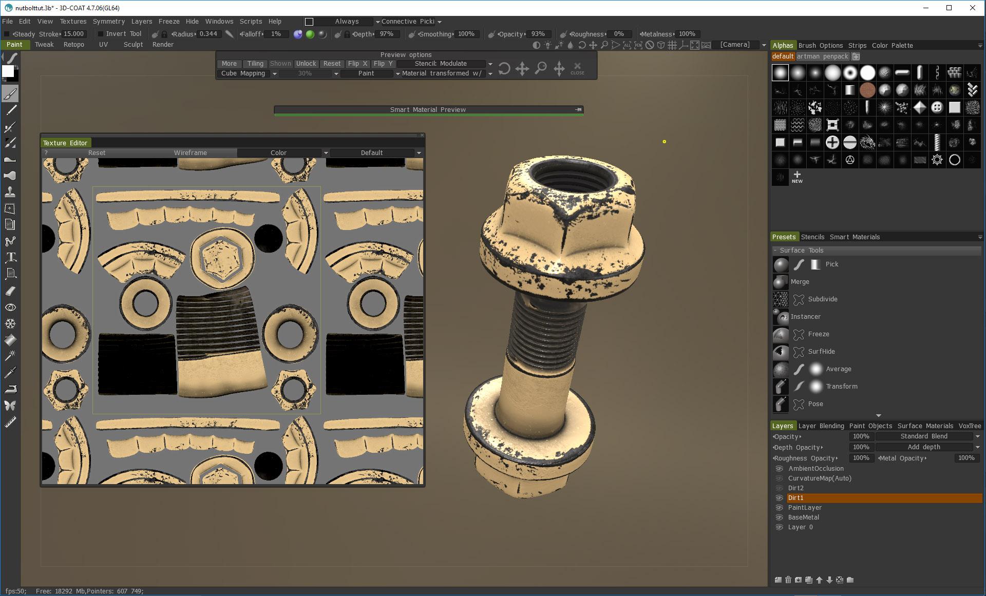 PBR texturing in 3D Coat Tutorial Creative With Jaakko 3D