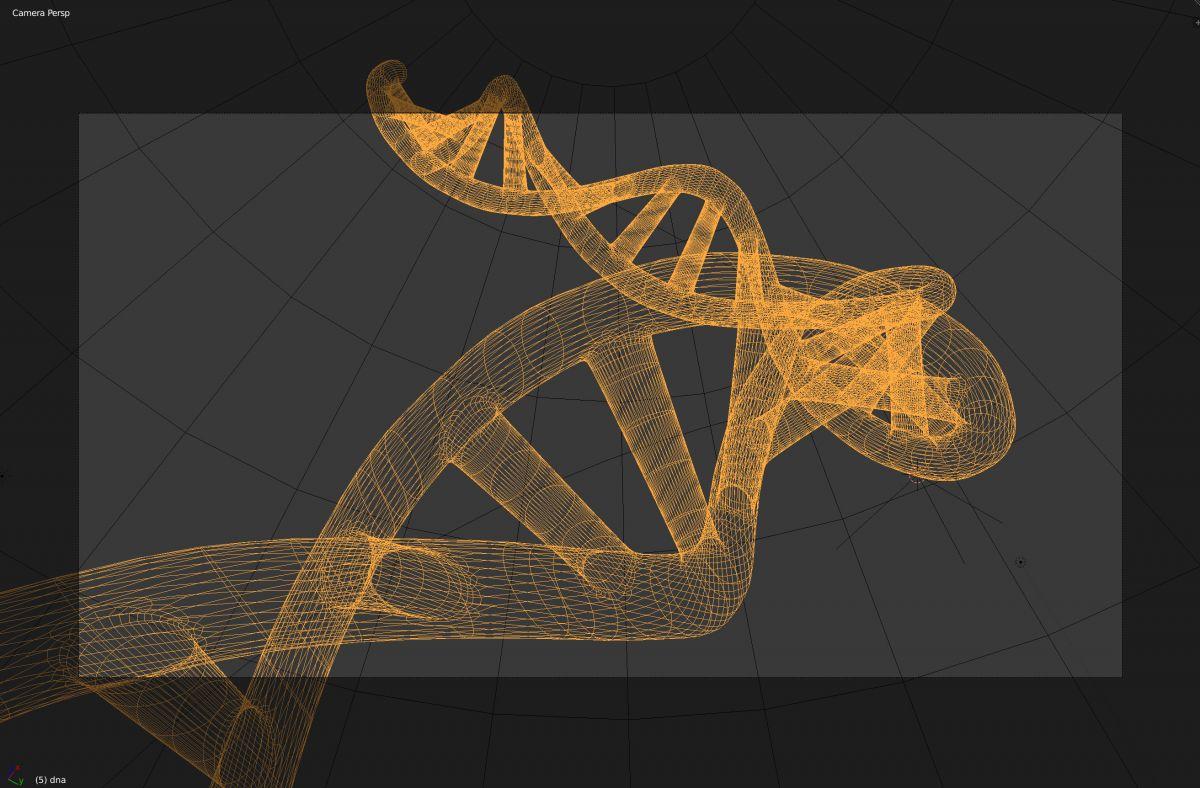 DNA Double Helix 3D model | Creative With Jaakko - 3D