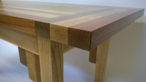 Mixed hardwood coffee table
