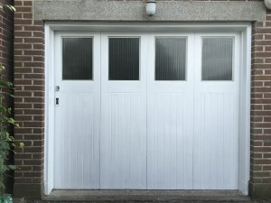 Restored bi-fold garage doors