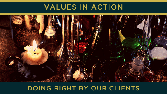 Doing right by our clients