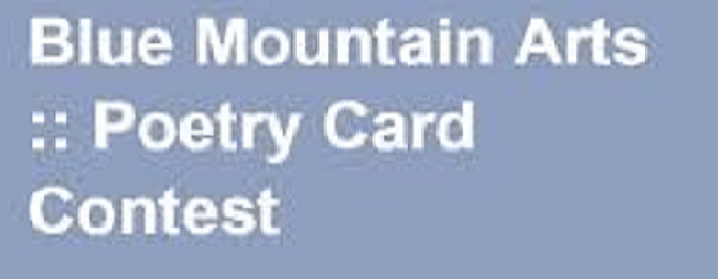 Blue Mountain Arts Poetry Card Contest