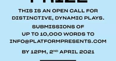 Platform Presents: 2021 Playwright's Prize(£5,000)