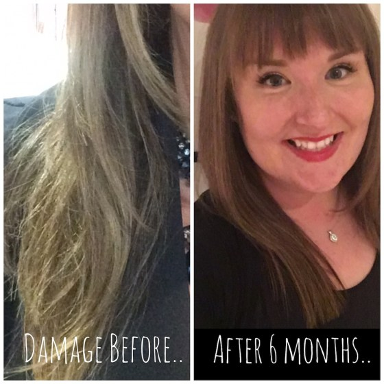 a photo of before and after hair care