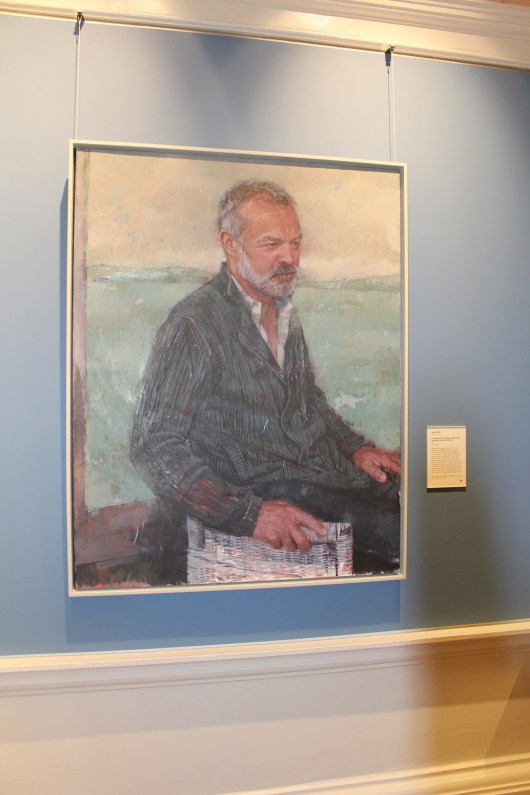 a picture of Graham Norton painting at the national gallery of ireland