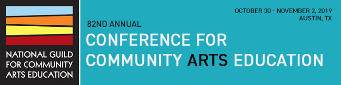 2019 Conference for Community Arts Education banner graphic