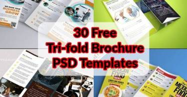 30 Free Tri-fold Brochure PSD Templates for Download