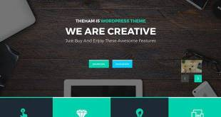 theHam – Free Professional Landing Page PSD Template