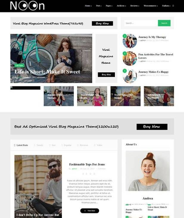 Noon wordpress theme