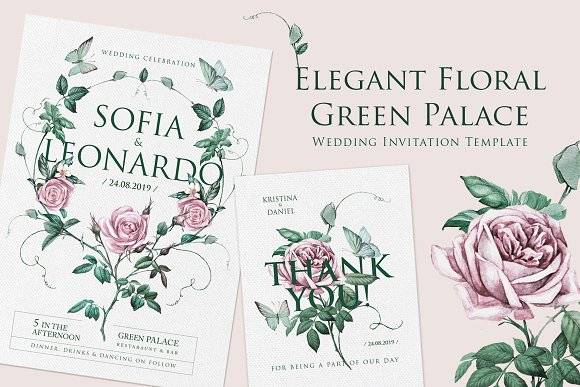 Green Palace Elegant Invite Template