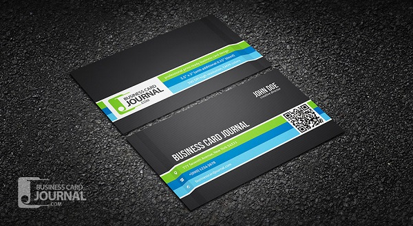 Bold Business Card Template with Carbon Fiber Background
