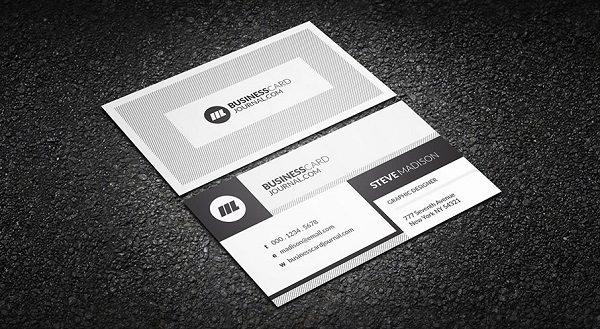 Creative Monochrome Business Card Template