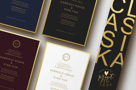Wedding Invitation Suite - Classika