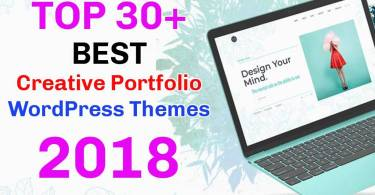 creative portfolio wordpress themes 2018