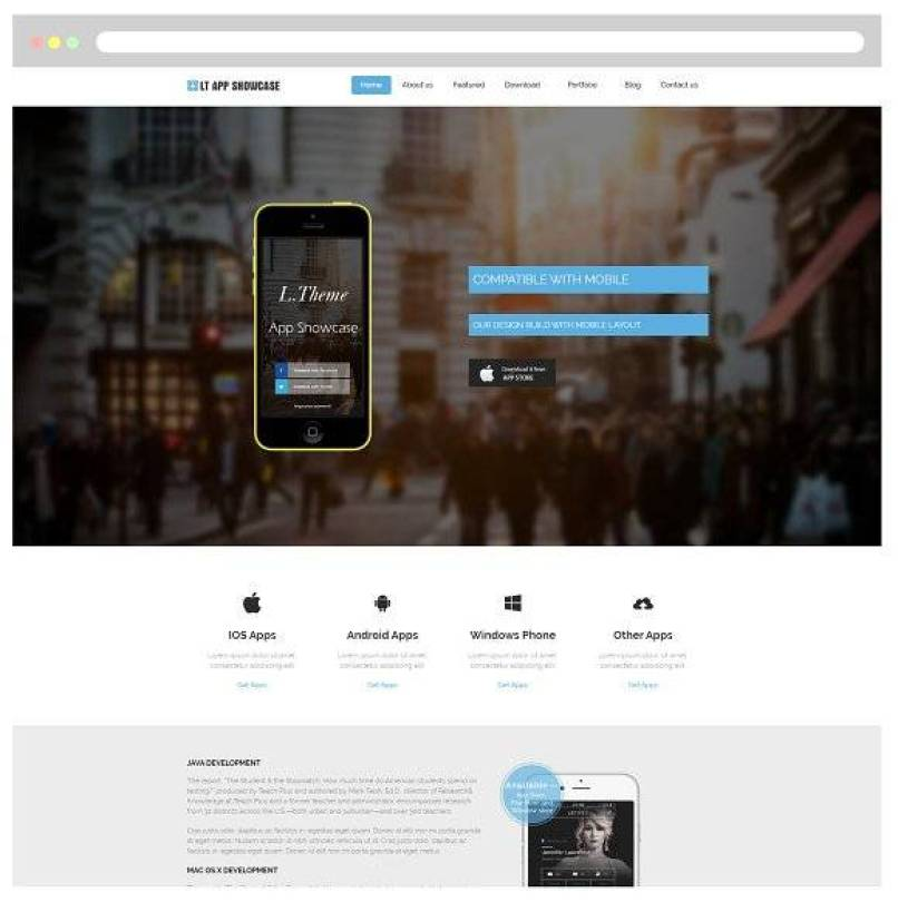 LT App Showcase WordPress Theme