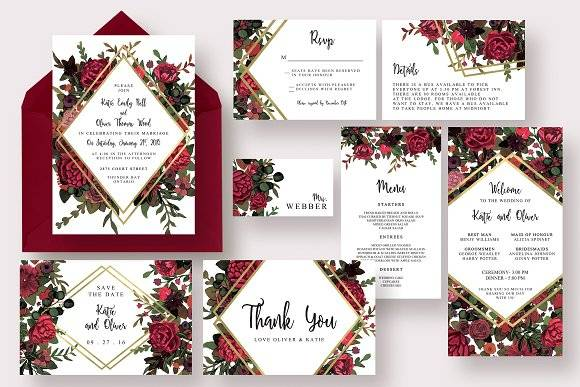 Stylish Marsala Wedding Suite
