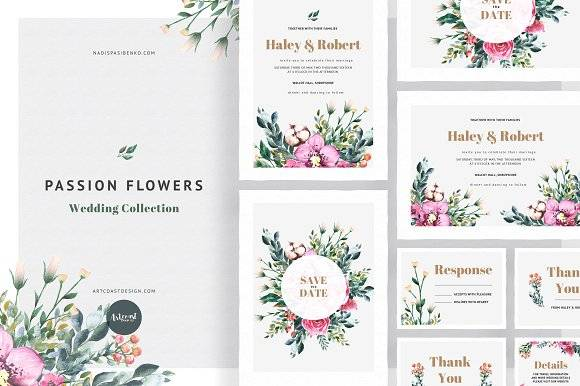 Passion Flowers Invitation