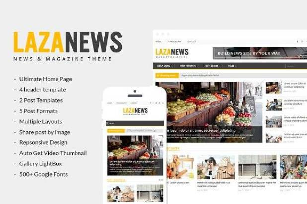 LazaNews wordpress theme