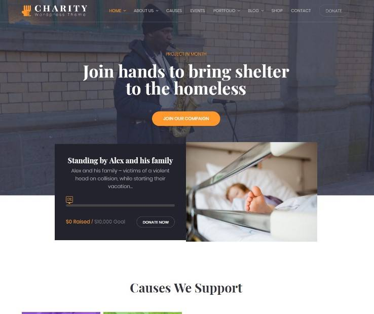 Charity WordPress Theme | Charity WP