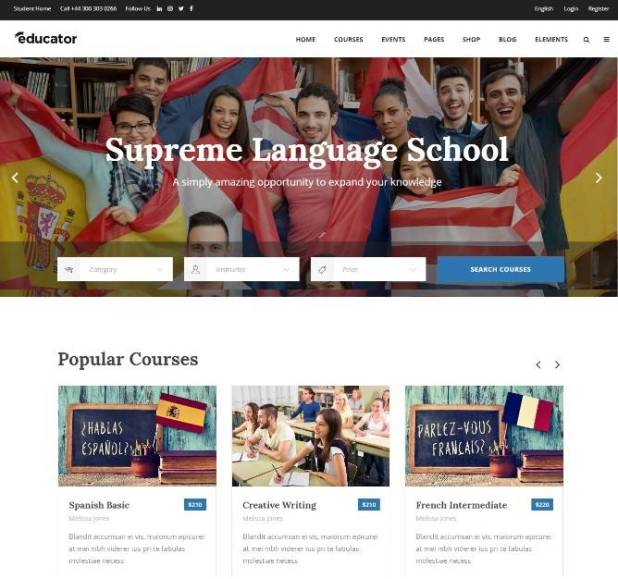 Educator - Education Theme for School, College and University