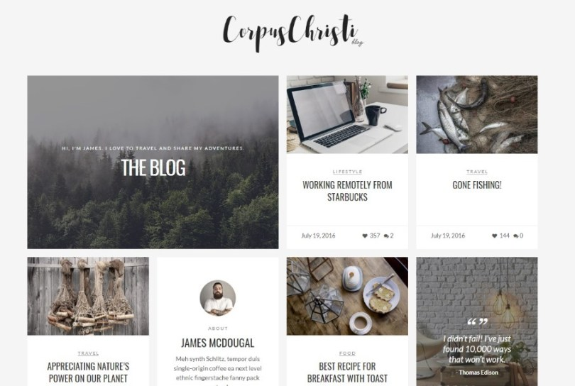 CorpusChristi - Modern Blog WordPress Theme