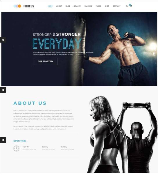 Gym & Yoga WordPress Theme