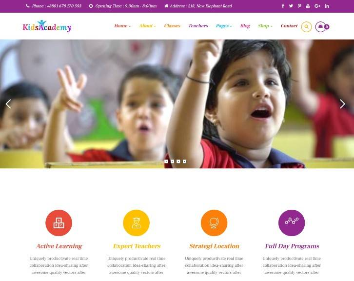 KidsAcademy - Kids, Kindergarten & Preschool WordPress Theme