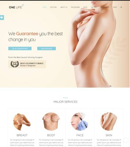OneLife Medical | Medical, Health WordPressTheme
